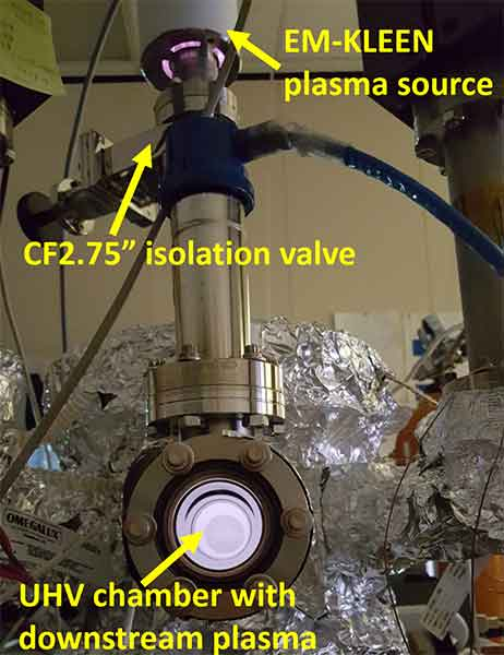 UHV chamber cleaned with oxygen plasma